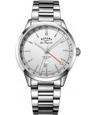 Rotary GB90181-02 Mens les originales reloj pulsera de acero tradición plata