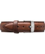 Daniel Wellington DW00200052 Damas clásico de los varones de 36 mm de plata de cuero marrón de la correa de repuesto