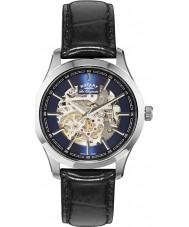 Rotary GS90525-05 Mens les originales de acero reloj automático negro