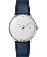 Junghans 041-4464-00 Max Bill cuero azul reloj de la correa