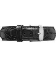 Daniel Wellington DW00200028 20 mm clásico de plata lectura correa de repuesto