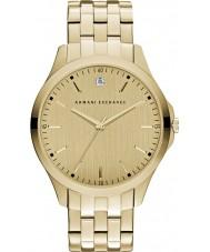 Armani Exchange AX2167 vestido de oro de los hombres plateado reloj pulsera
