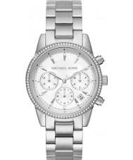 Michael Kors MK6428 Las señoras de plata chapado Ritz reloj cronógrafo