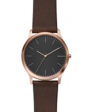 Skagen SKW6330 Mens Jorn reloj de la correa de cuero de color marrón oscuro
