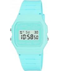 Casio F-91WC-2AEF Reloj para hombre del cronógrafo azul colección retro en colores pastel