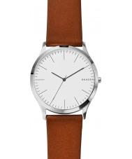 Skagen SKW6331 Mens Jorn reloj de la correa de cuero de color marrón claro