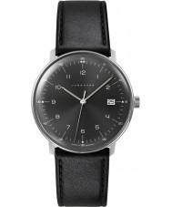Junghans 041-4462-00 Max Bill de cuero negro reloj de la correa