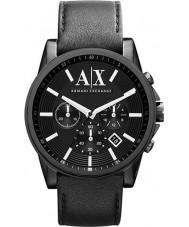 Armani Exchange AX2098 reloj cronógrafo vestido correa de cuero negro de los hombres
