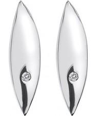 Hot Diamonds DE452 Señoras pendientes de plata de la hoja de ley