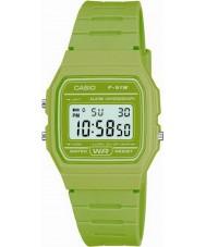 Casio F-91WC-3AEF Para hombre reloj cronógrafo verde colección retro