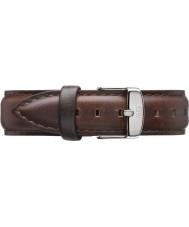 Daniel Wellington DW00200056 Las señoras de plata de 36 mm clásico Bristol cuero marrón correa de repuesto