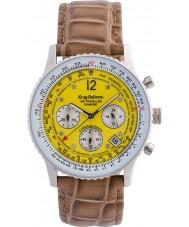 Krug-Baumen 400519DS viajero aéreo de línea amarilla correa de color marrón