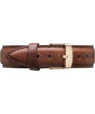 Daniel Wellington DW00200035 Damas clásico varones st 36 mm aumentaron cuero marrón correa de repuesto de oro
