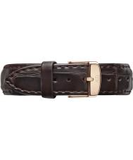 Daniel Wellington DW00200038 Señoras 36mm york rosa clásica correa de cuero marrón oscuro repuesto de oro