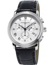 Frederique Constant FC-292MC4P6 clásicos para hombre reloj cronógrafo negro