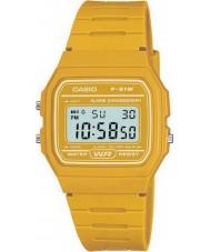 Casio F-91WC-9AEF Para hombre reloj cronógrafo amarillo colección retro