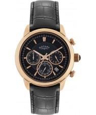Rotary GS02879-04 relojes para hombre reloj cronógrafo negro monaco