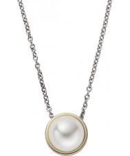 Skagen SKJ0880998 Damas Agnethe collar de acero de plata con perlas joya