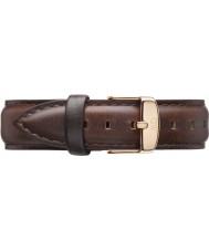 Daniel Wellington DW00200039 Damas clásico 36mm Bristol subieron cuero marrón correa de repuesto de oro
