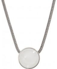 Skagen SKJ0080040 Señoras de vidrio del mar collar de acero de plata