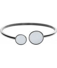 Skagen SKJ0788040 Señoras de vidrio del mar de acero pulsera de plata pulida