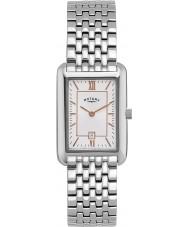 Rotary LB02685-02 Relojes de reloj de plata blanco