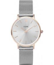Cluse CL30025 reloj de señoras de malla minuit