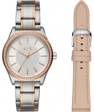 Armani Exchange AX7103 Señoras vestido reloj regalo conjunto
