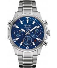 Bulova 96B256 Hombre de All Star marina reloj cronógrafo de plata