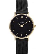 Cluse CL30026 reloj de señoras de malla minuit
