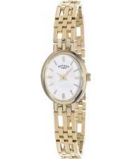 Rotary LB10090-02 Señoras metales preciosos 9ct reloj caja de oro