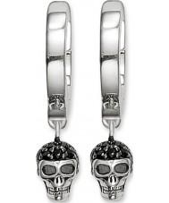 Thomas Sabo CR573-051-11 Las señoras de plata del cráneo con bisagras pendientes de aro