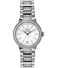 Rotary LB90081-02L Damas les originales reloj de plata