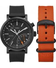Timex TWG012600 Mens giftset metropolitana con correa de nylon adicional