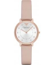 Emporio Armani AR2510 Vestido de las señoras reloj de la correa de cuero de color marrón claro