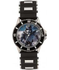 Disney SWM3076 Niños soldado de asalto reloj con correa de silicona negro