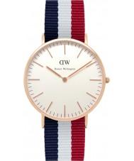 Daniel Wellington DW00100003 Mens clásico 40mm Cambridge rosa reloj de oro