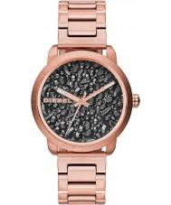 Diesel DZ5427 Damas llamarada bronce reloj de oro rosa