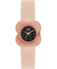 Orla Kiely OK2060 Señoras de la amapola de las flores de color rosa caso reloj de correa de piel desnuda