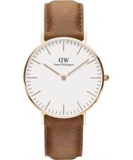 Daniel Wellington DW00100111 Durham 36mm clásica rosa reloj de oro