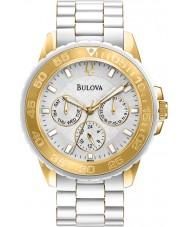 Bulova 98N102 Las señoras reloj de múltiples funciones del deporte blanco