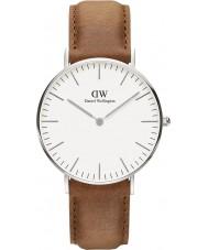Daniel Wellington DW00100112 reloj de plata de 36 mm clásico Durham