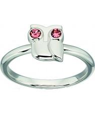Orla Kiely R3494-54 Las señoras del anillo del buho de plata de ley - tamaño n