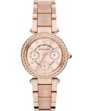 Michael Kors MK6110 Las señoras mini-Parker chapado en oro rosa reloj pulsera