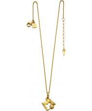 Orla Kiely N4038 Las señoras de plata esterlina collar de oro de conejo de plata con detalles swarovski
