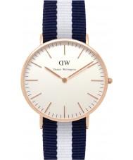 Daniel Wellington DW00100004 Mens clásico 40mm Glasgow rosa reloj de oro