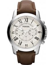 Fossil FS4735 Mens conceden reloj cronógrafo marrón