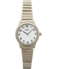 Rotary LB00762 Relojes de oro plateado reloj pulsera expansible
