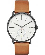 Skagen SKW6216 Mens Hagen cuero marrón reloj de la correa