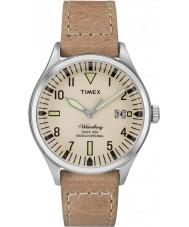 Timex TW2P84500 Para hombre de Waterbury de tamaño medio reloj de la correa de cuero marrón